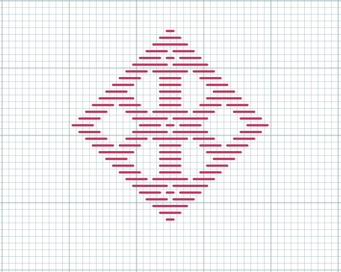 Kogin embroidery chart