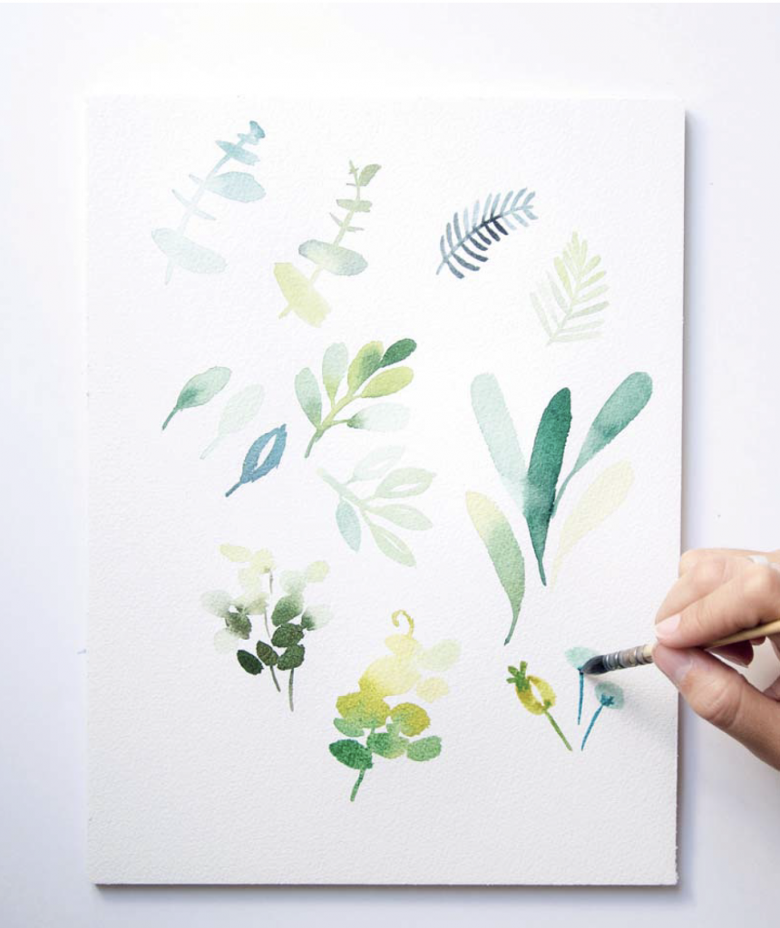 Painting Foliage in Watercolour