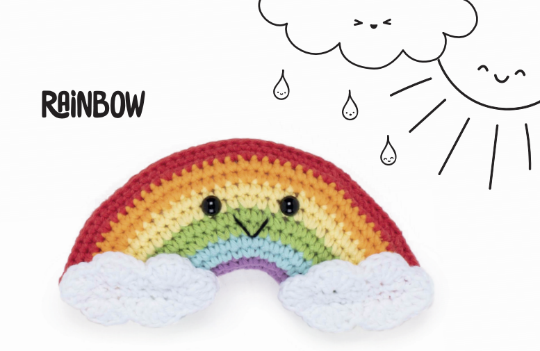 free crochet rainbow pattern