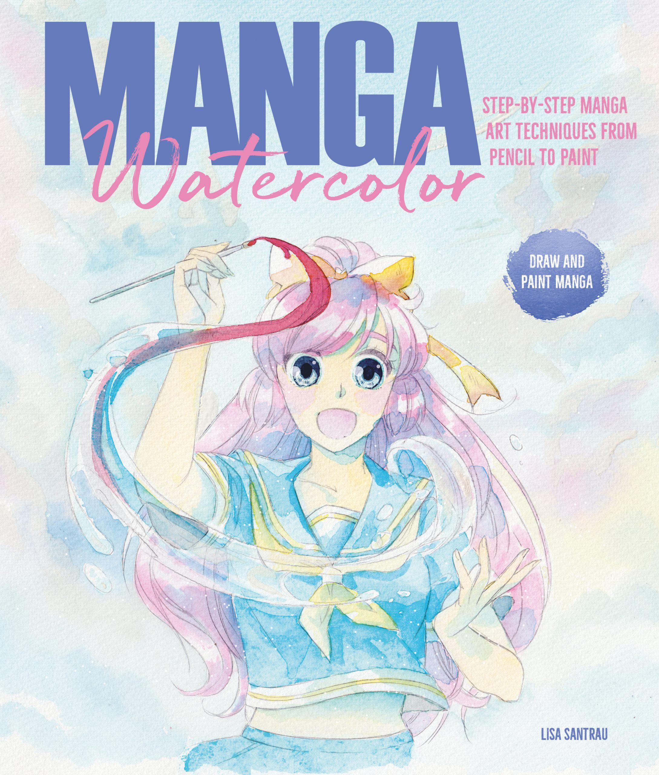 Manga Watercolor Book Lisa Santrau