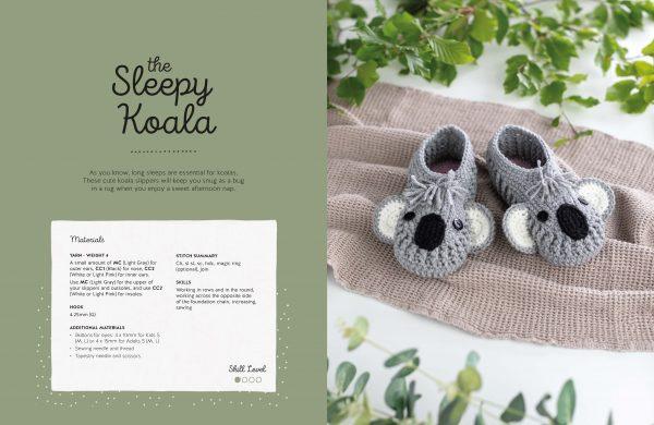 Crochet Animal Slippers Book Ira Rott