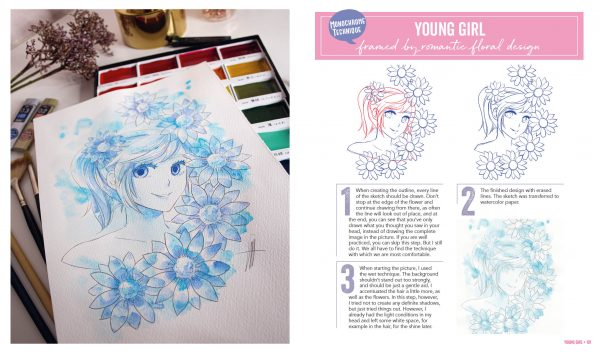 Manga Watercolor Book
