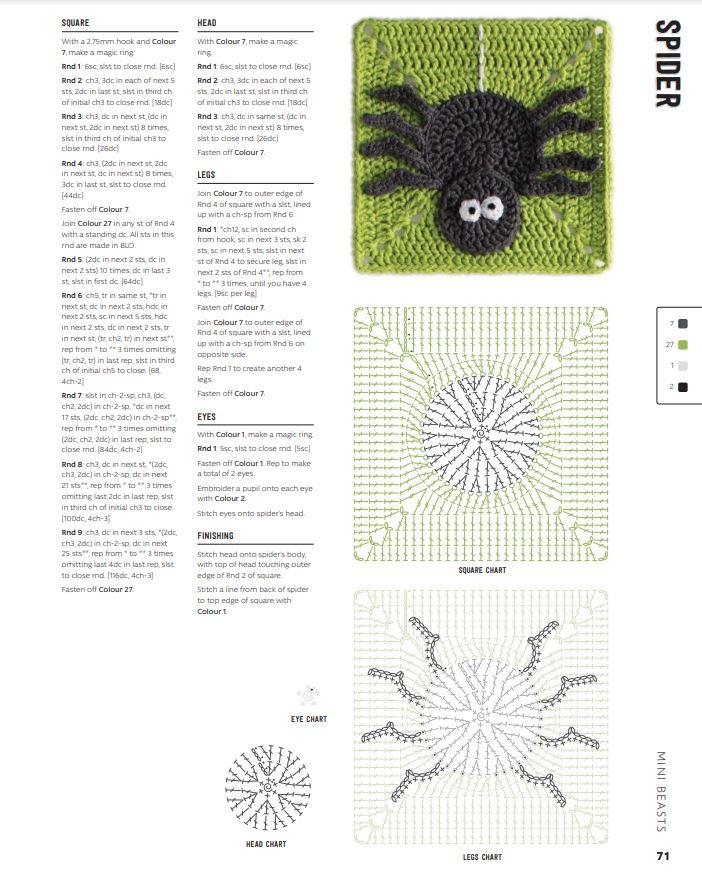 3D Granny Squares - spider