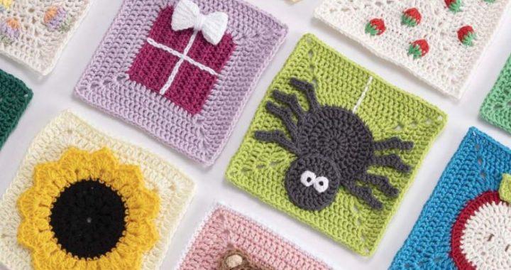 3d crochet spider