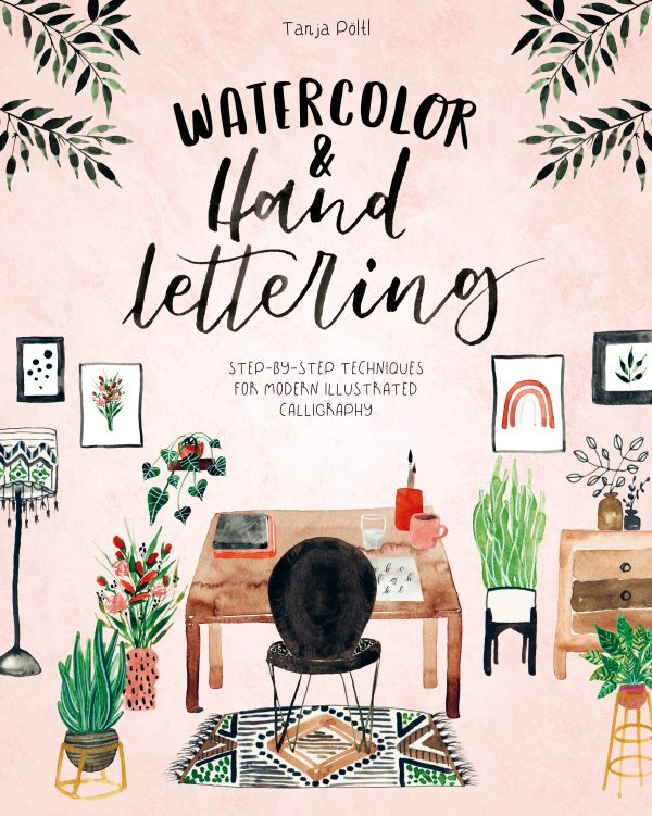 Watercolour and hand lettering book