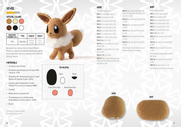 pokemon crochet kit book