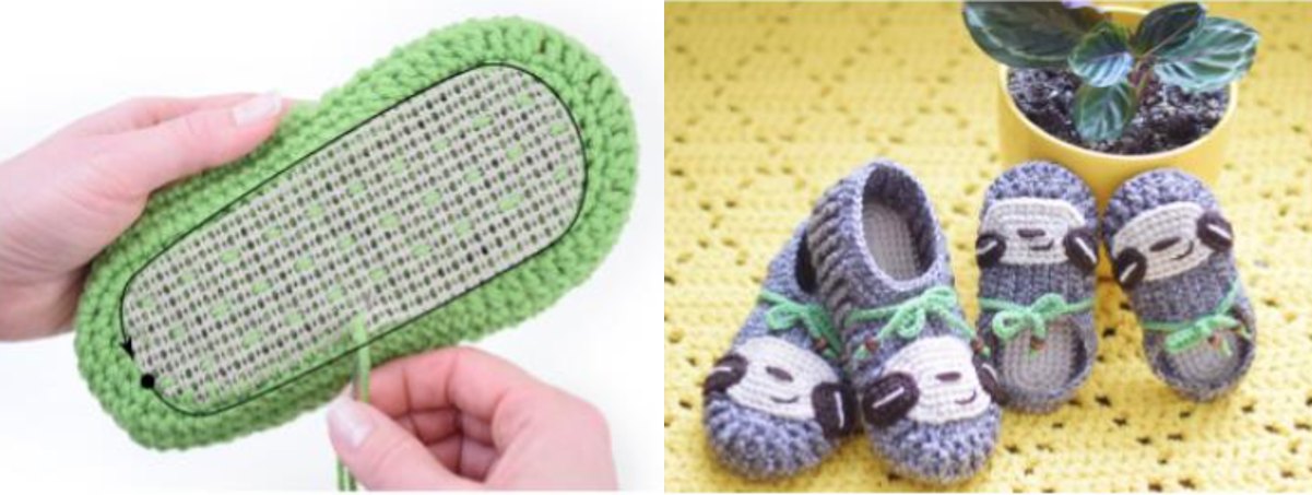 Non Slip Slippers Crochet