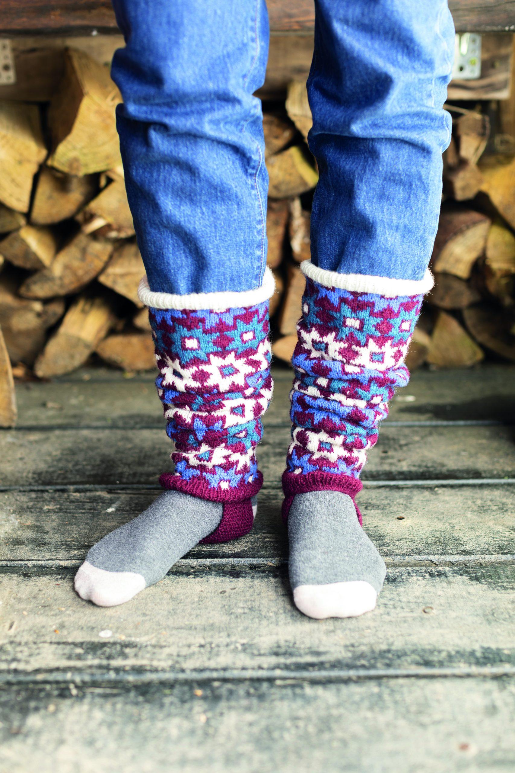 knitted leg warmers free pattern